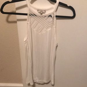 BKE white high neck tank